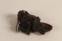 2004.446.2 a front Tefillin set hidden and recovered postwar by a Czech Jewish family  Click to enlarge