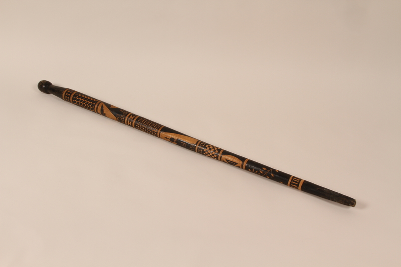 1991.230.1 back Walking stick from Baranowitschi concentration camp