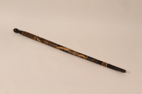 1991.230.1 back Walking stick from Baranowitschi concentration camp  Click to enlarge