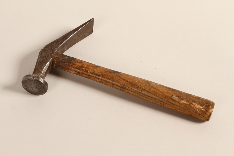 2004.523.23 front Cobbler's hammer used by a Polish Jewish refugee conscripted as a shoemaker by the Soviet Army