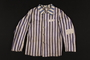 Concentration camp uniform jacket worn by a non-Jewish doctor/resistance member