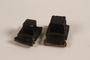 Pair of batim from a set of tefillin rescued after Kristallnacht and recovered postwar