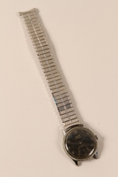 2004.593.2 front Wrist watch kept by a Hungarian Jewish concentration camp inmate  Click to enlarge