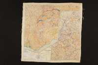 2003.449.2 back Two-sided silk escape map of Western Europe acquired by German Jewish US soldier  Click to enlarge