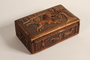 Carved wooden box handmade and used in the Łódź Ghetto