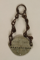 2004.642.2 back French Army ID tag worn by a Jewish Lithuanian emigre soldier  Click to enlarge