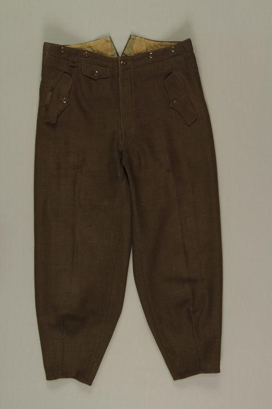 2004.686.3 front SA-Wehrmannschaft combat uniform trousers