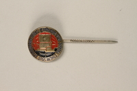 2004.692.2 front Enameled stickpin for the Studiosorum World Congress owned by a former Czech Jewish soldier  Click to enlarge