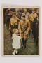 Cigarette card with image of Hitler receiving flowers