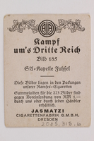 2005.315.6 back Cigarette card with image of Nazi party band in performance  Click to enlarge
