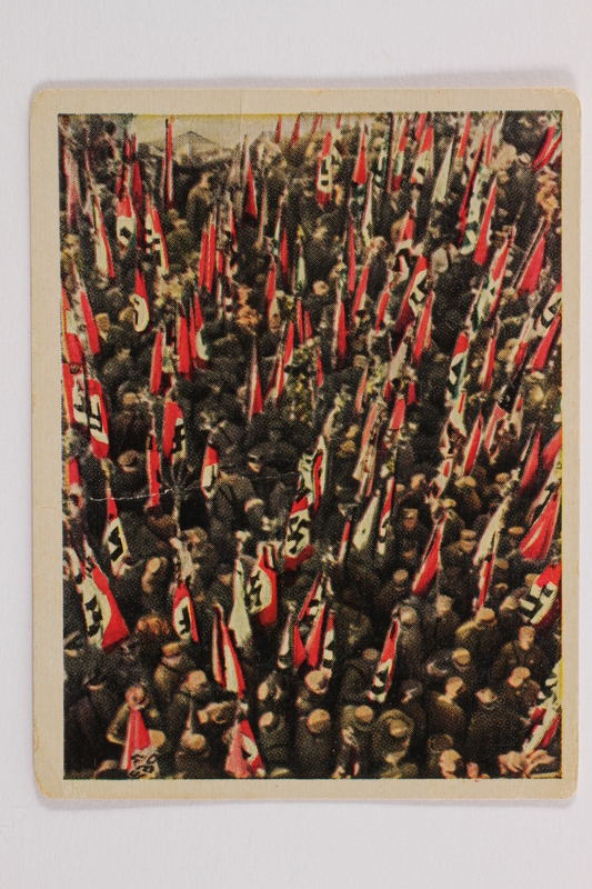 2005.315.11 front Forest of Nazi Flags cigarette card
