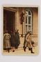 Cigarette card depicting Hitler leaving Nazi Party headquarters in Munich