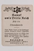 2005.315.14 back Cigarette card depicting Hitler traveling in Prussia  Click to enlarge