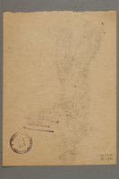 2005.181.80 back Drawing by Alexander Bogen of a partisan standing with his right arm extended  Click to enlarge