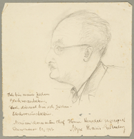 2003.361.16 front Portrait of a Theresienstadt inmate drawn by another inmate  Click to enlarge