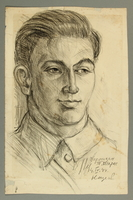 2005.181.98 front Portrait of a Jewish Lithuanian partisan, drawn by Alexander Bogen  Click to enlarge
