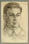 Portrait of a Jewish Lithuanian partisan, drawn by Alexander Bogen