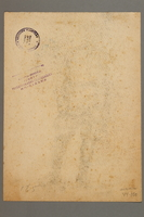 2005.181.100 back Seated portrait of a partisan in uniform, drawn by Alexander Bogen  Click to enlarge