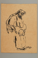 2005.181.105 front Drawing by Alexander Bogen of a woman and a bearded man  Click to enlarge