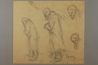 2005.181.106 front Studies of an old man with a beard, drawn by Alexander Bogen  Click to enlarge