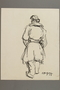 Drawing by Alexander Bogen of a partisan walking