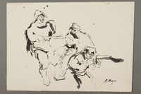 2005.181.121 front Drawing by Alexander Bogen of three partisans  Click to enlarge