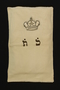 Torah mantle with embroidered crown used for Bar Mitzvah at Theresienstadt