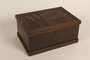 Engraved wooden box presented to a Lieutenant General of the SS by his troops