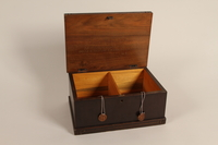 2005.525.2 open Engraved wooden box presented to a Lieutenant General of the SS by his troops  Click to enlarge