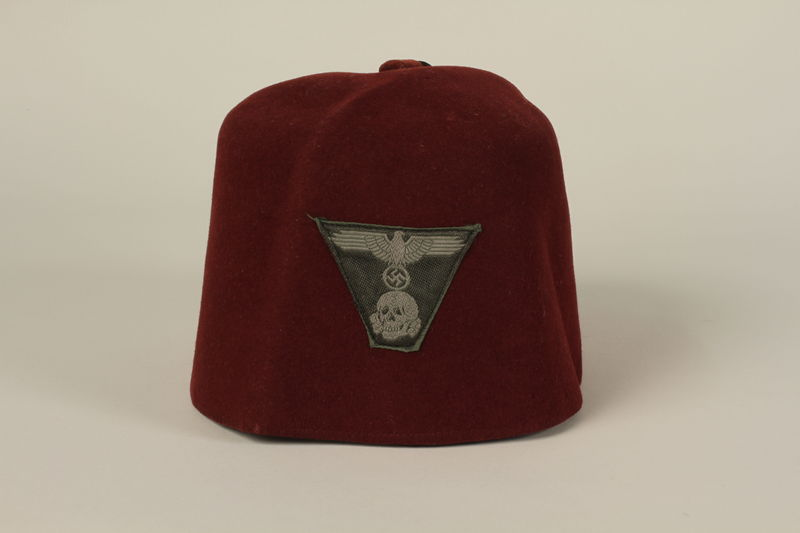 2006.167.1 front Waffen-SS Muslim red fez found by a US soldier at Ohrdruf concentration camp