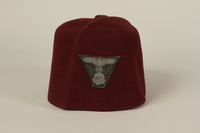2006.167.1 front Waffen-SS Muslim red fez found by a US soldier at Ohrdruf concentration camp  Click to enlarge