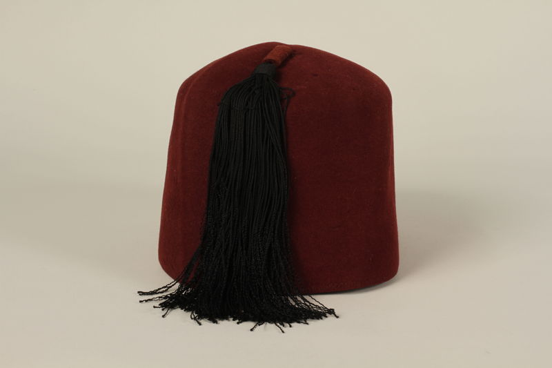 2006.167.1 back Waffen-SS Muslim red fez found by a US soldier at Ohrdruf concentration camp