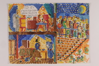 2006.125.37 front Autobiographical painting of a round-up of Jews in a ghetto  Click to enlarge