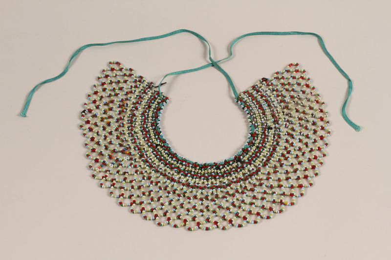 2007.491.1 front Beaded bib necklace made by a young Polish Jewish refugee in Russia