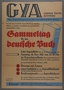 Book drive poster for postwar US Army Assistance Program activities for German youth