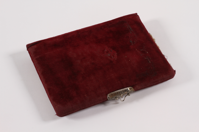 2014.512.3 front Notebook cover used by a Kindertransport refugee girl