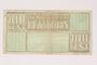 Westerbork transit camp voucher, 100 cent note