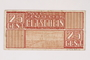 Westerbork transit camp voucher, 25 cent note