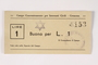 Cremona concentration camp scrip, 1 Lire note with a Star of David stamp