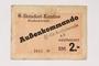 Buchenwald subcamp scrip, 2 Reichsmark note for use in Rottleberode