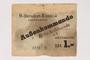 Buchenwald subcamp scrip, 1 Reichsmark note for use in Rottleberode