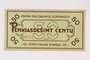 Scheinfeld Displaced Persons Camp scrip, 50 cent note
