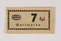 Holleischen subcamp scrip, 7 Reichspfennig note
