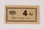 Holleischen subcamp scrip, 4 Reichspfennig note