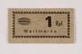 Holleischen subcamp scrip, 1 Reichspfennig note