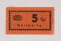 Holleischen subcamp scrip, 5 Reichspfennig note