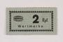 Holleischen subcamp scrip, 2 Reichspfennig note