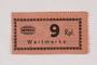 Holleischen subcamp scrip, 9 Reichspfennig note