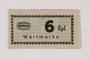 Holleischen subcamp scrip, 6 Reichspfennig note