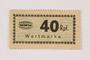 Holleischen subcamp scrip, 40 Reichspfennig note